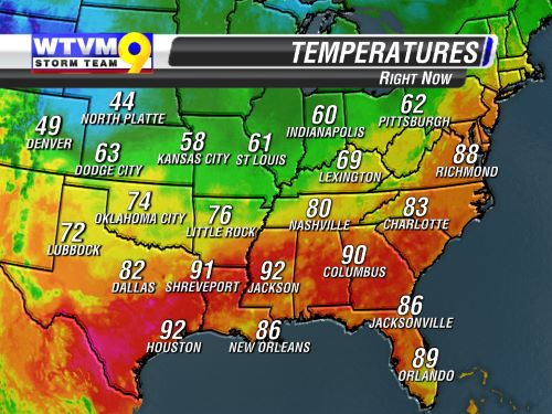 Southeast Current Temps